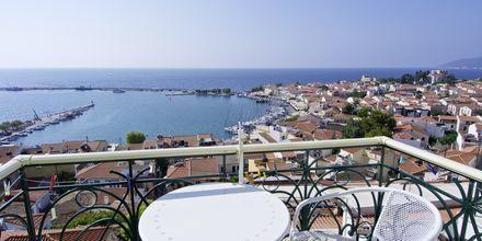 Balkong på hotell Panorama på Samos, Grekland.