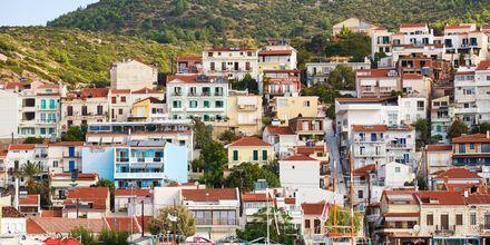 Hotell Panorama i Pythagorion på Samos, Grekland.