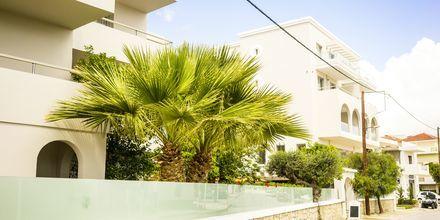 Hotell Parasol i Karpathos stad, Grekland.