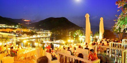 Restaurang Kastro i Parga, Grekland.
