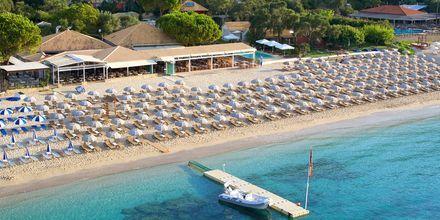 Stranden vid hotell Parga Beach, Grekland.