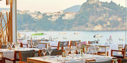 Restaurang på hotell Parga Beach, Grekland.