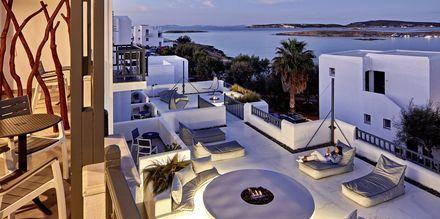 Utsikt från hotell Parian Boutique på Paros i Grekland.