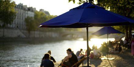 Floden Seine i Paris, Frankrike.