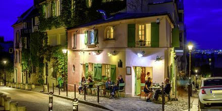 Restaurang i Montmartre, Paris.