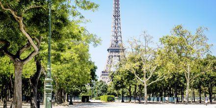 Eiffeltornet i Paris, stadens mest kända sevärdhet.