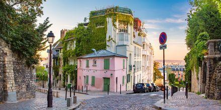 Montmartre i Paris, Frankrike.