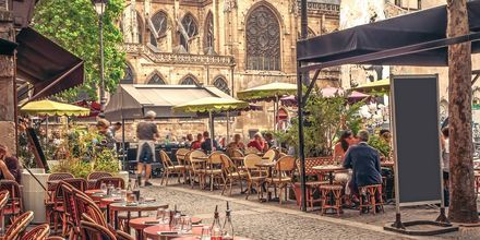 Restauranger i Paris, Frankrike.