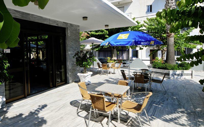 Hotell på hotell Paritsa i Kos stad, Grekland.