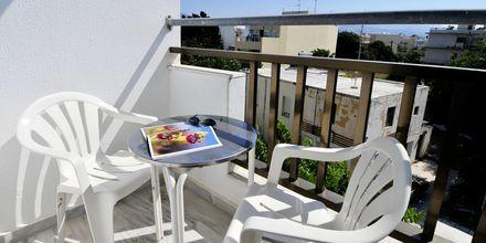 Dubbelrum på hotell Paritsa i Kos stad, Grekland.