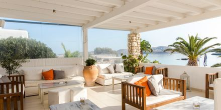 Restaurang på hotell Paros Bay på Paros i Grekland.