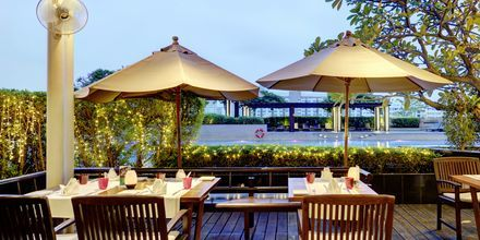 Vista Bar Terrace på hotell Pathumwan Princess i Bangkok Thailand.