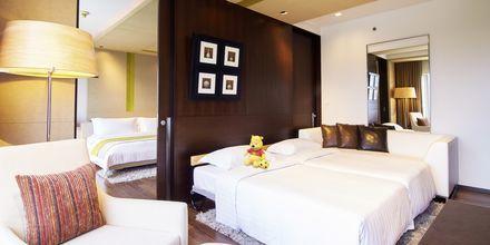 Familjerum på hotell Pathumwan Princess i Bangkok Thailand.