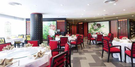 Ping's Thai Teochew Seafood Restaurant på hotell Pathumwan Princess i Bangkok Thailand.
