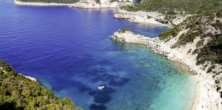 Strand på Paxos i Grekland.