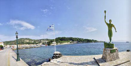 Strandpromenaden i Gaios på Paxos, Grekland.