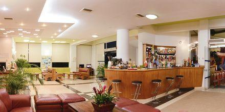 Receptionen på hotell Pegasus, Kato Stalos, Kreta.
