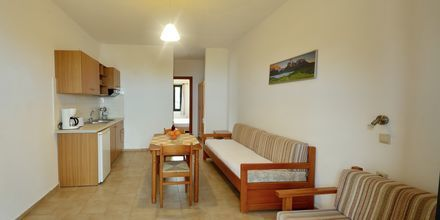 Tvårumslägenhet på hotell Pelagos Beach i Votsalakia på Samos, Grekland.