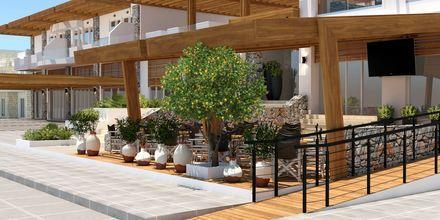 Skissbild på hotell Pelopas i Tigaki på Kos, Grekland.