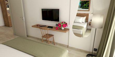 Skissbild på tvårumslägenhet på hotell Pelopas i Tigaki på Kos, Grekland.