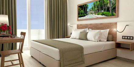 Skissbild på enrumslägenhet på hotell Pelopas i Tigaki på Kos, Grekland.