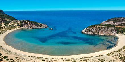 Stranden Voidokilia i närheten av Costa Navarino och Gialova