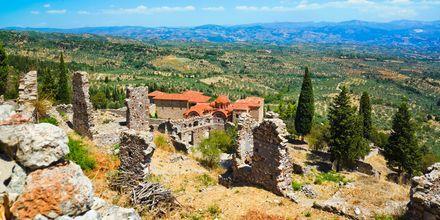 Mistra i Peloponnesos, Grekland.