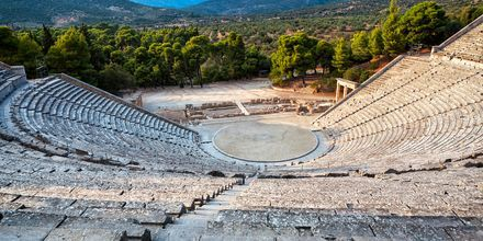 Epidaurus i Peloponnesos, Grekland.