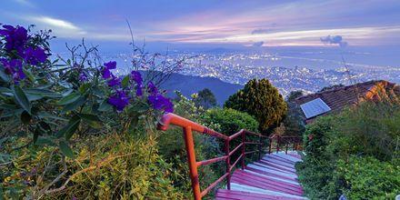 Penang Hill, med milsvid utsikt över huvudstaden George Town.