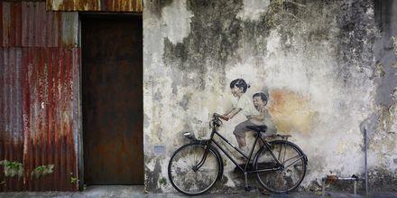 Gatukonsten i Penang är något utöver det vanliga.