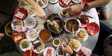I Penang kan du äta dig mätt på smaker från världens alla hörn!