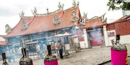 Ett av många tempel i Penang.