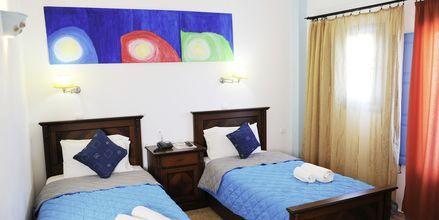 Superiorrum på Perissa Bay på Santorini.
