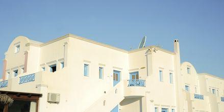 Hotell Perissa Bay på Santorini.