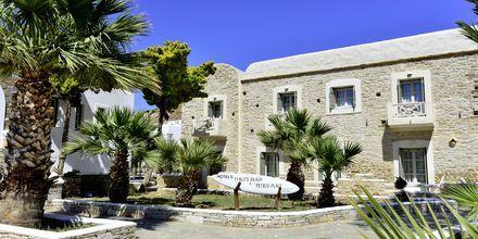 Entré till hotell Petros Place på Ios i Grekland.