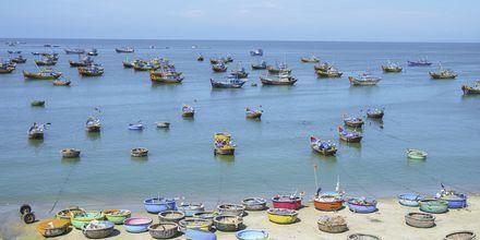 Fiskebåtar i Mui Ne, Vietnam.