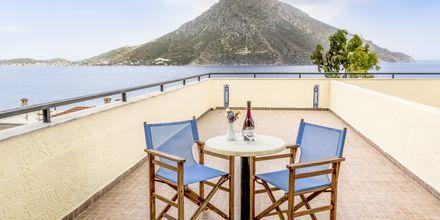 Utsikt från hotell Philoxenia i Massouri på Kalymnos.