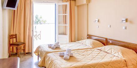 Dubbelrum på hotell Philoxenia i Massouri på Kalymnos, Grekland.