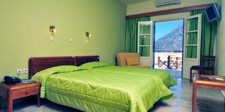 Enrumslägenhet på hotell Philoxenia i Massouri på Kalymnos, Grekland.