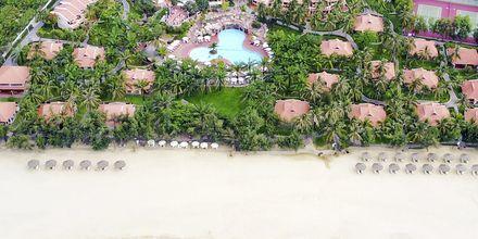 Stranden vid hotell Phu Hai Resort i Phan Thiet, Vietnam.