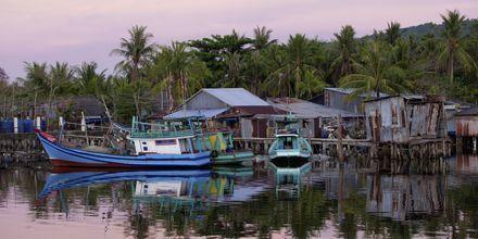 Fiskeläge på Phu Quoc i Vietnam.
