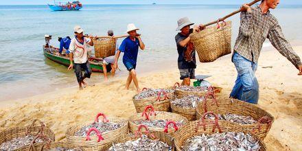 Fiskare på Phu Quoc i Vietnam.