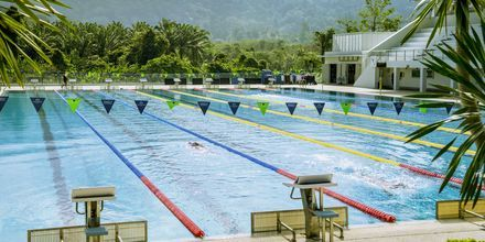 På Thanyapura finns en olympisk 50-meters pool och en halvolympisk 25-meters pool.