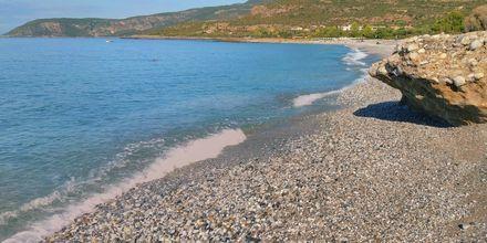 Ritsa Beach i Kardamili, Grekland.