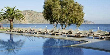 Poolen på hotell Pilot Beach i Georgioupolis på Kreta, Grekland.