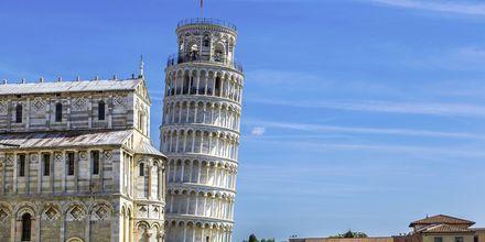 Lutande tornet i Pisa är stadens mest kända sevärdhet.