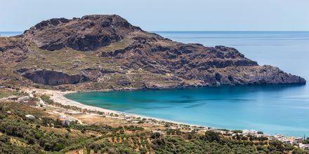 Utsikt över Plakias och det vackra havet.