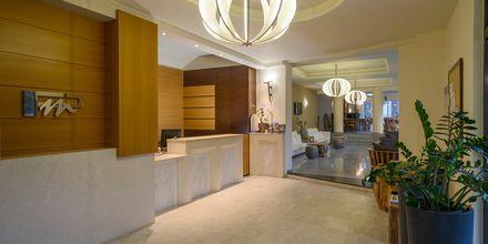 Reception på hotell Platanias Mare i Platanias, Kreta.