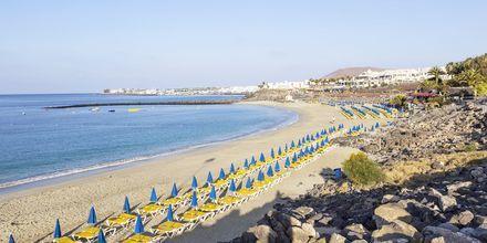 Stranden i Playa Blanca på Lanzarote.