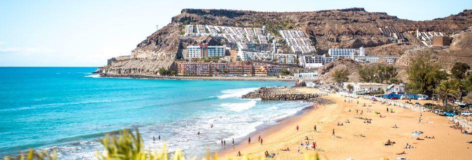 Stranden i Playa del Cura på Gran Canaria, Spanien.